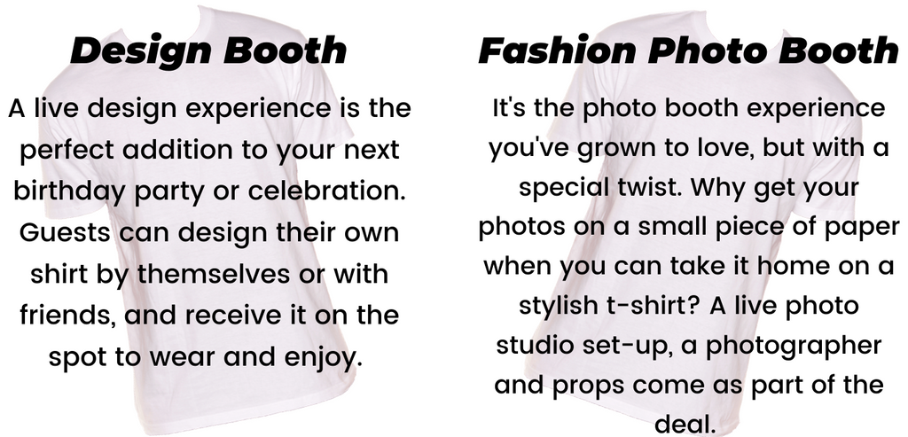 design booth and fashion photo booth