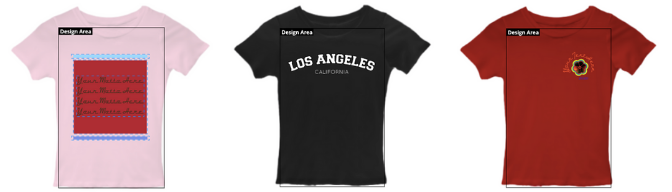 Design Your Own Clothing T-Shirt Templates