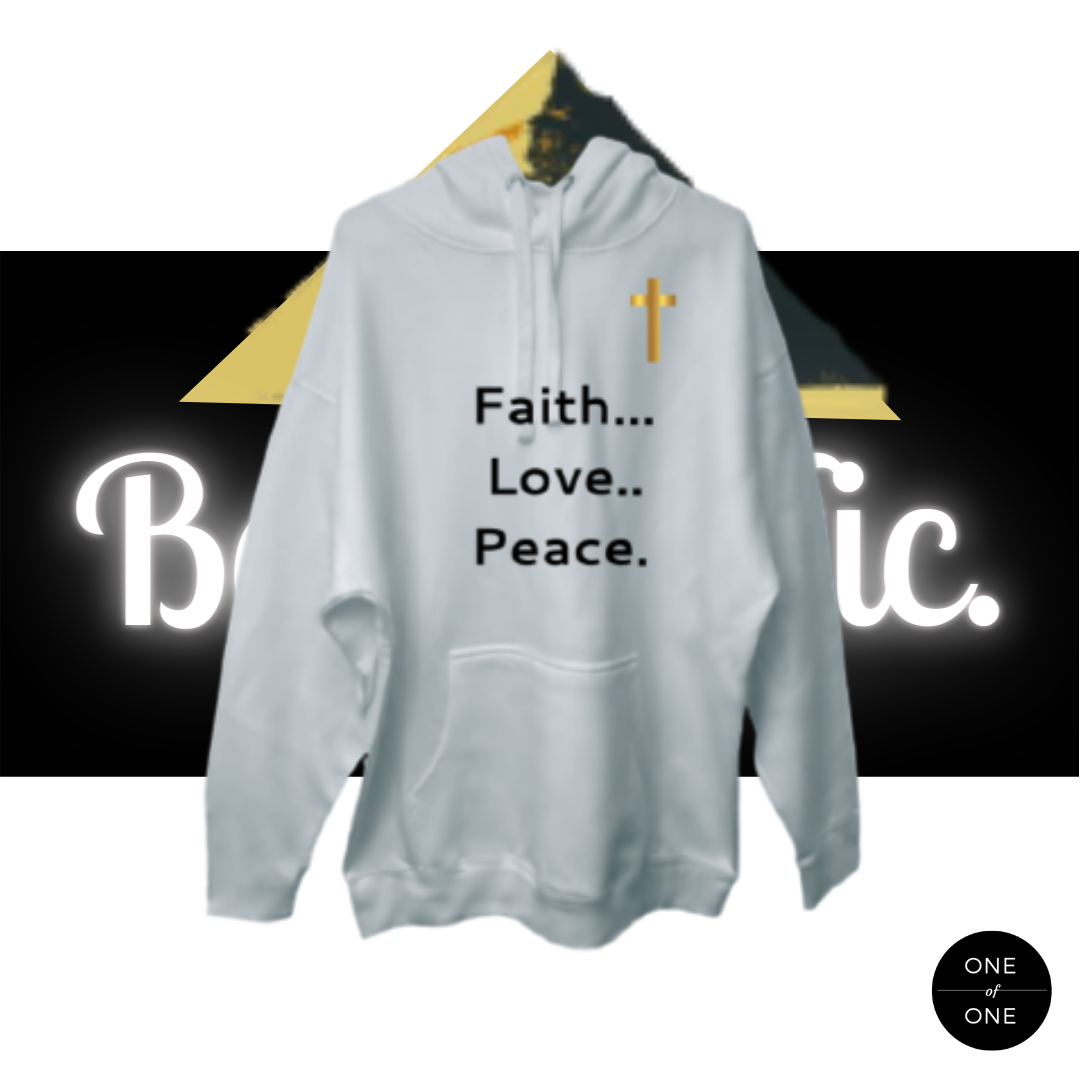 Kid's Faith Love Peace Hoodie