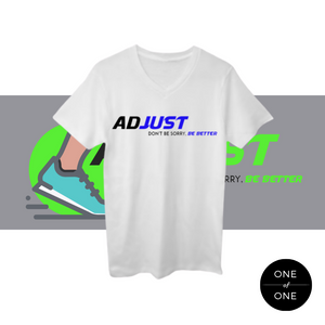 White Adjust V-neck