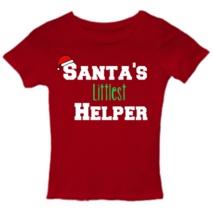 SANTA'S LITTLEST HELPER Infant Tee