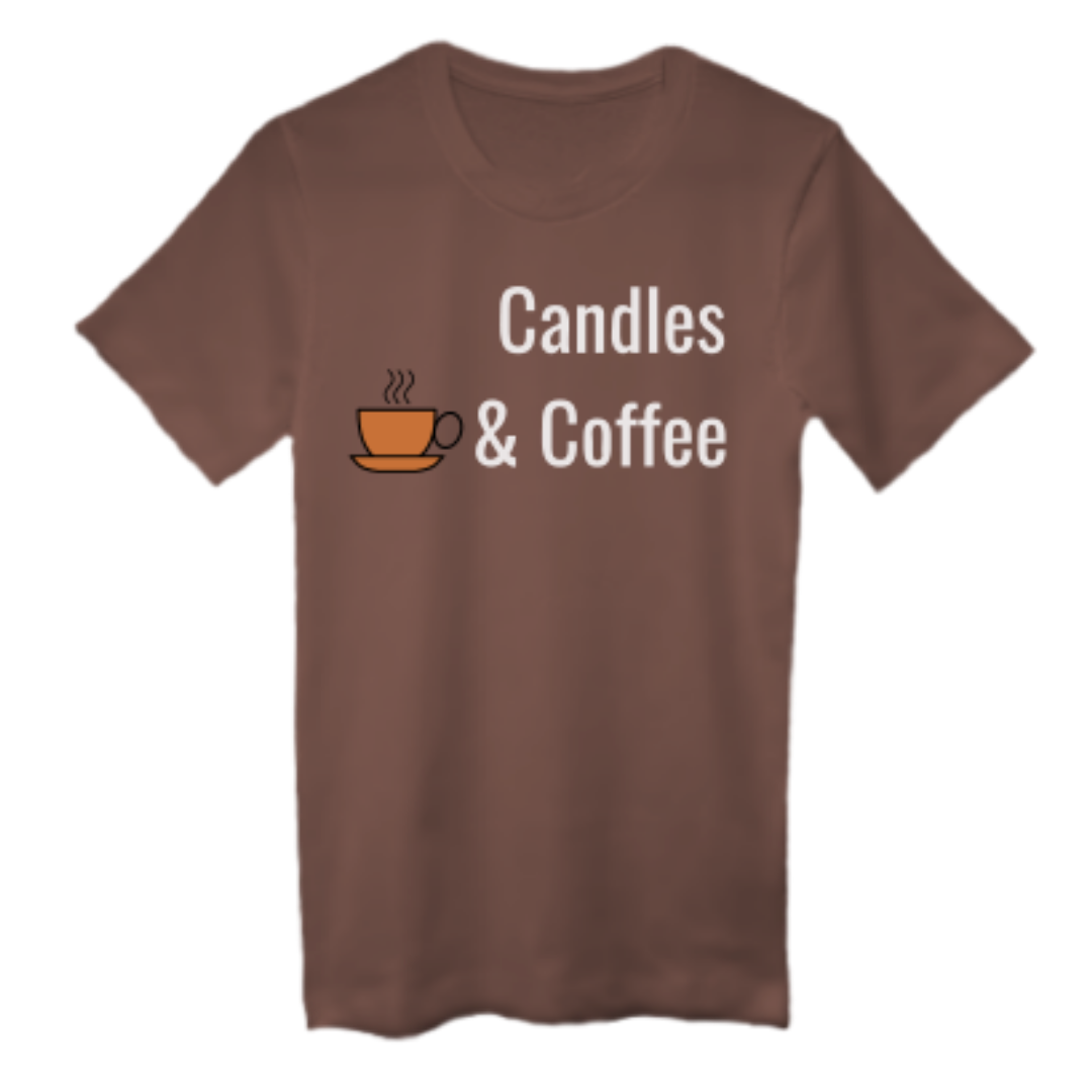 CANDLES & COFFEE Unisex Tee