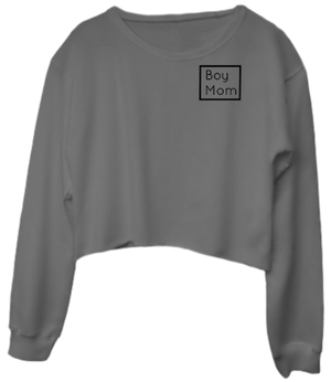 BOY MOM Long Sleeve Crop