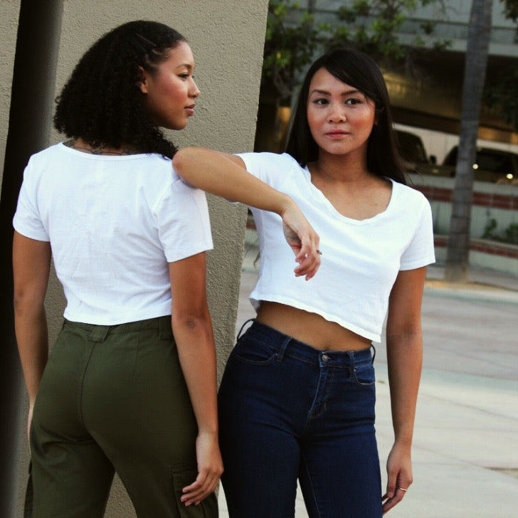 The Scoop Neck Crop Tee