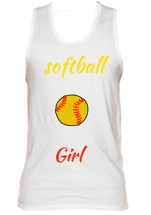 Softball Girly Tank