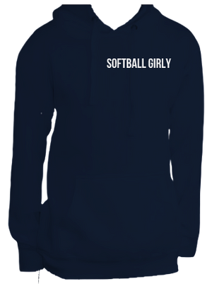 Softball Girly Hoodie