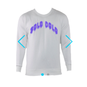 Solo Dolo White Crewneck Sweater