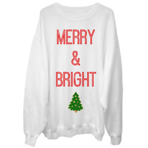 MERRY & BRIGHT Crew Neck Sweater