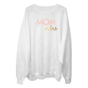 MOM VIBES Crew Neck Sweater