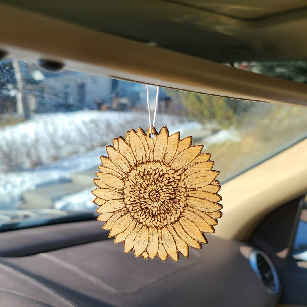 Reusable Sunflower Air Freshener