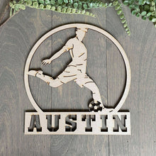 Load image into Gallery viewer, Customized Soccer Sign