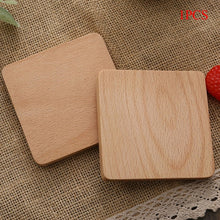 Load image into Gallery viewer, Durable Wood Coasters Placemats Round Heat Resistant Drink Mat Table Tea Coffee Cup Pad Non-slip Cup Mat Insulation Pad