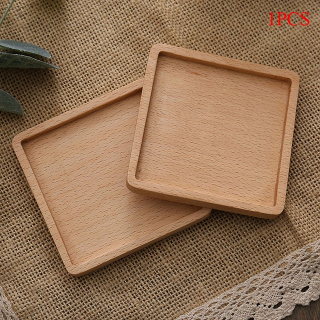 Durable Wood Coasters Placemats Round Heat Resistant Drink Mat Table Tea Coffee Cup Pad Non-slip Cup Mat Insulation Pad