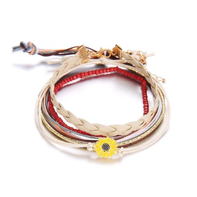 Sunflower Bracelet Set