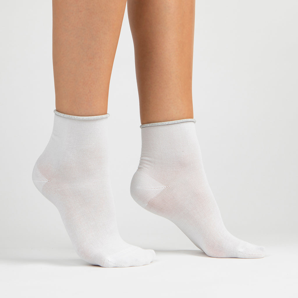 Sparkle Trim Lurex Ankle Sock Bundle