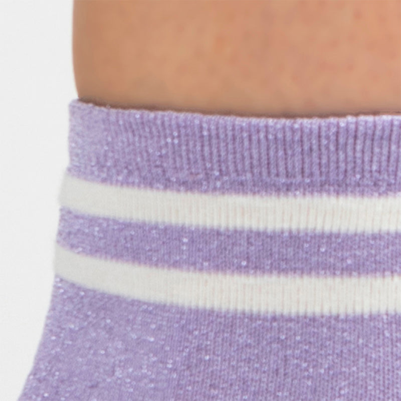 Metallic Lurex Ankle Sock | Lavender