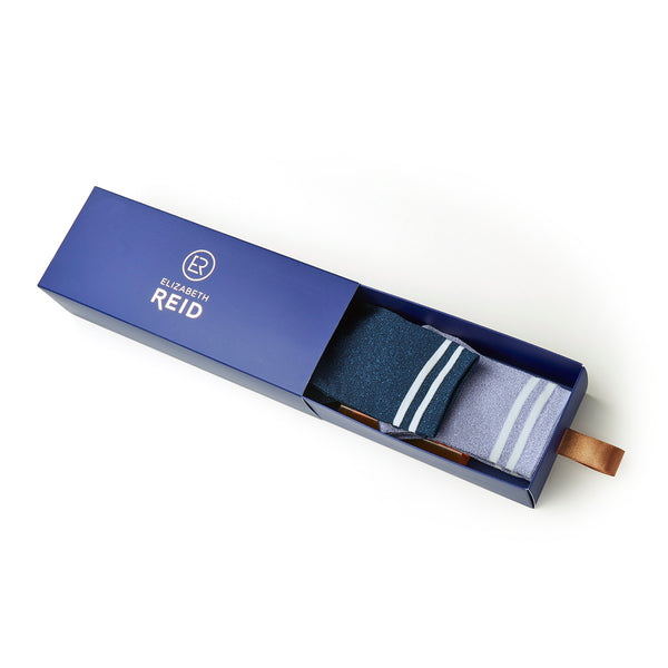 Metallic Lurex Crew Sock Gift Pack | Purple & Navy