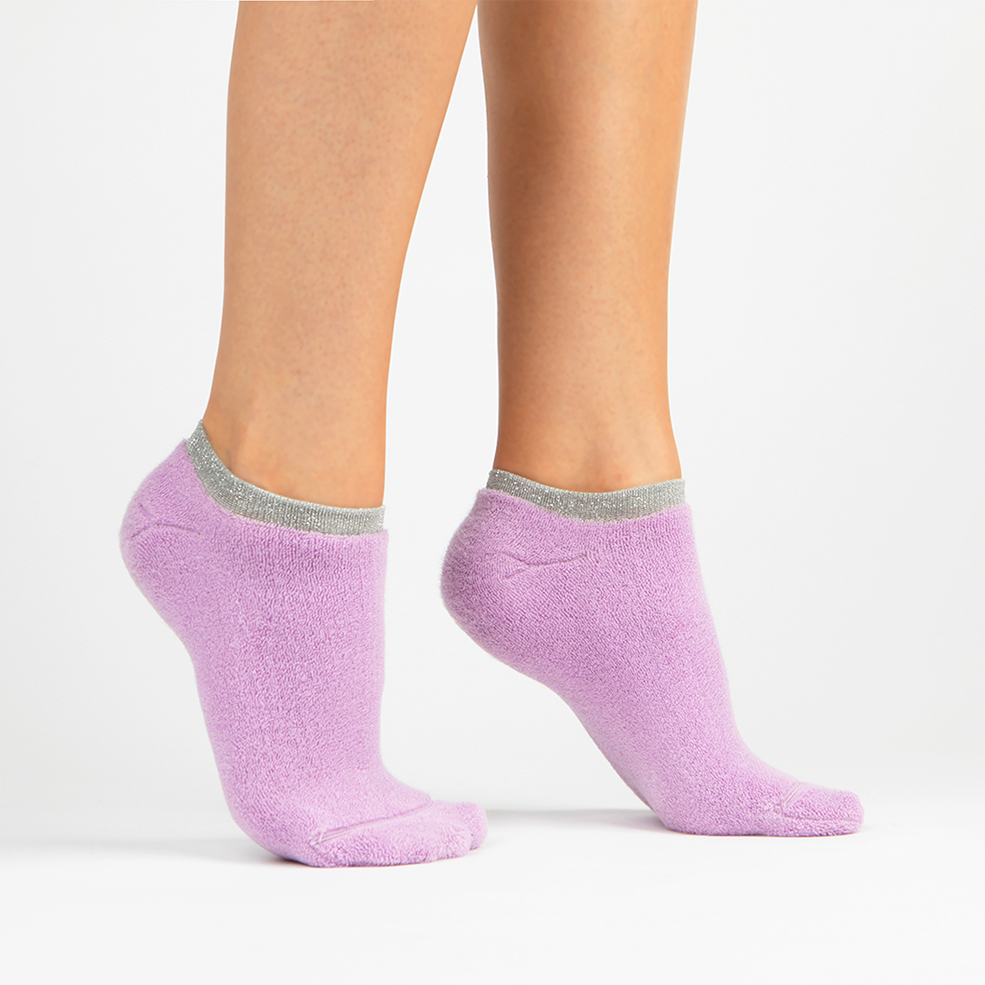 Terry Athletic Ankle Sock | Lavender