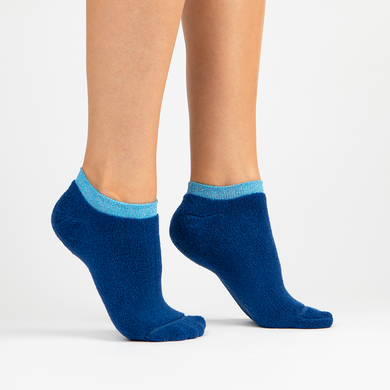 Terry Athletic Ankle Sock | Blue