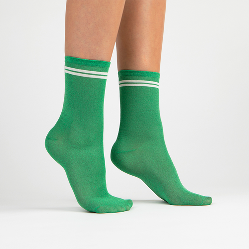 Lurex Crew Sock | Green