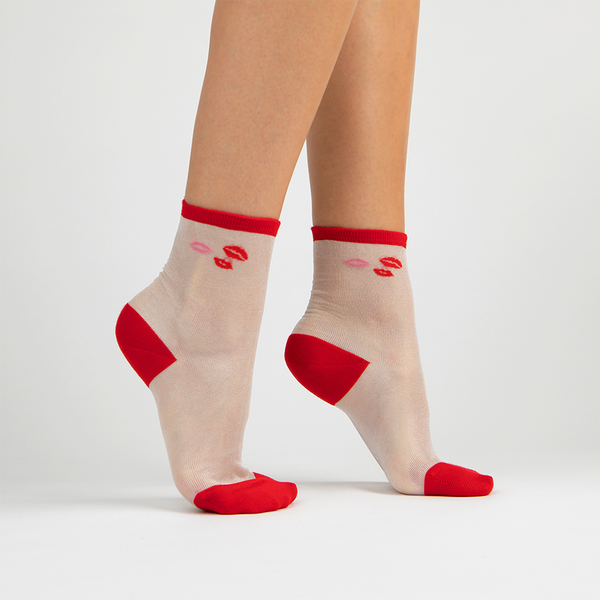 Kiss Crew Sock | Red