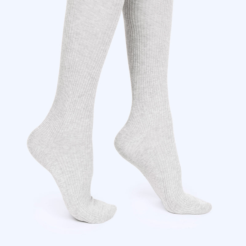Thigh High Sock | Heather Grey