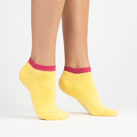 Terry Athletic Ankle Sock | Yellow
