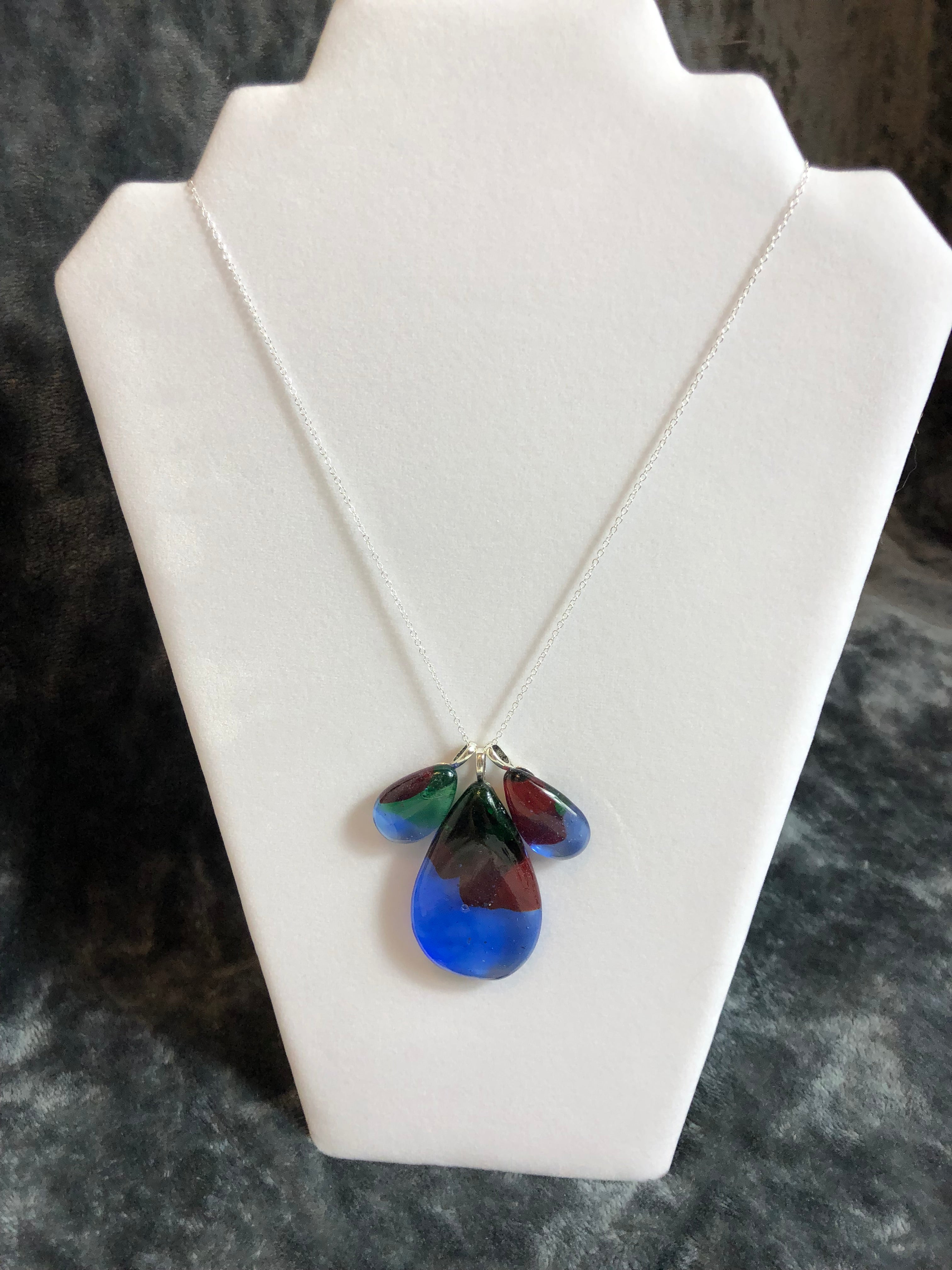 Convertable necklace set - Kubatko Glass - Artistically Recycled Glass