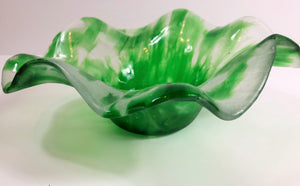 Flower Bowl - Kubatko Glass - uniquely hand-crafted using recycled glass