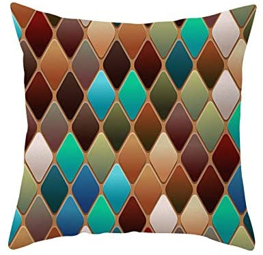2019 New Pillow Covers,Soft Canvas Throw Pillow Covers Cases for Couch Sofa Home Decor Modern Quatrefoil Accent Geometric 18 X 18 Inches (D)