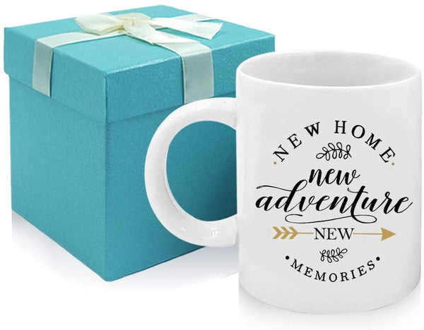 Tom Boy Housewarming Gifts For New Home Owner House Warming Presents For Friends And Couple New Adventure New Memories 2 Pack Coffee Mugs 11oz