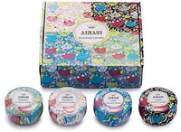 AIMASI Scented Candles Jasmine,Lotus,Lilac Blossoms & White Gardenia,Natural Soy Wax Portable Travel Tin Candle,Set Gift of 4