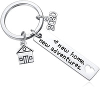 New Home Keychain 2020 Housewarming Gift for New Homeowner House Keyring Moving in Key Chain New Home Owners Jewelry from Real Estate Agent