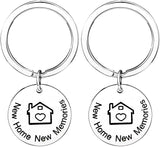 Pack of 2 Our First Home Keychains Housewarming Gift New Home Gift House Keyring First Home Gift Realtor Closing Gifts