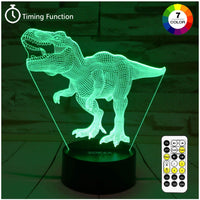 Dinosaur Toys, T Rex 3D Night Light 7 Colors Changing Night Lights for Kids with Timer & Remote Control & Smart Touch, T Rex Toys Birthday Gifts for Boys Age 2 3 4 5 6+ Year Old Boy Gifts(T-Rex 1)