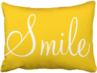 Tarolo Decorative Throw Pillow Cases Covers SMILE Sunshine Yellow Decorative 20x26 Inches (51x66cm) Decor Pillow Cove Case Pillowcase Two Sided