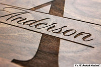 Contemporary Name Personalized Cutting Board - Engraved Custom Cutting Board with Monogram, Wedding, Engagement, Anniversary, Housewarming Gift W-004 GB