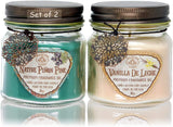 Way Out West Aromatherapy Scented Candles Gift Set - Stress Relief & Energy Jar Candles with 100% Natural Essential Oils Lavender & Eucalyptus Spearmint - Long Burning Soy Wax Candle - USA Made