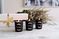 Scented Candle Gift Set with Natural Soy & Aromatherapy Oils - Vanilla, Eucalyptus & Lavender