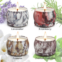 YINUO LIGHT Scented Candles Gifts Set for Women Aromatherapy Candles Stress Relief, Upgraded Large Tin of Soy Candle Scented Lavender Candle, Gifts for Mother's Day Birthday Anniversary Bath Yoga