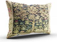 Fanaing Bedroom Custom Decor William Morris Tree of Life Floral Vintage Art Pillowcase Soft Zippered Coloured Throw Pillow Cover Cushion Case Fashion Design One-Side Printed Standard 20X26 Inches