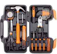 CARTMAN Orange 39-Piece Tool Set - General Household Hand Tool Kit with Plastic Toolbox Storage Case