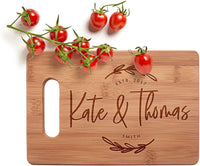 Personalized Cutting Board, 3 Sizes & 12 Designs, Bamboo Cutting Board - Personalized Gifts - Wedding Gifts for the Couple, Gift for Women #G