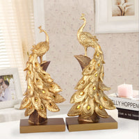 High-end Fashion Golden Peacock Home Decoration Creative Home Decorations Business Housewarming Gifts Resin Crafts