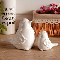 Modern Home Garden Decorative Ceramic Bird Figurine Collectible Animal Statuettes Sculpture Housewarming Gifts For Bird Lover