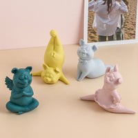 Nordic cute yoga pig ornaments living room wine cabinet home decorations housewarming new home wedding gift ZP8031414