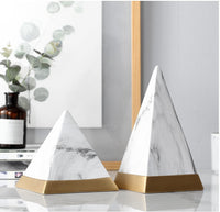 New Nordic Style Pyramid Ceramic Ornament For Living Room Dining Table Office Home Decoration Housewarming Gift