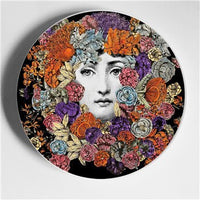 New Fashion Fornasetti Ceramic Wall Plates Hanging Decorative House Best Gift For Wedding Birthday Housewarming Porcelain Dishes