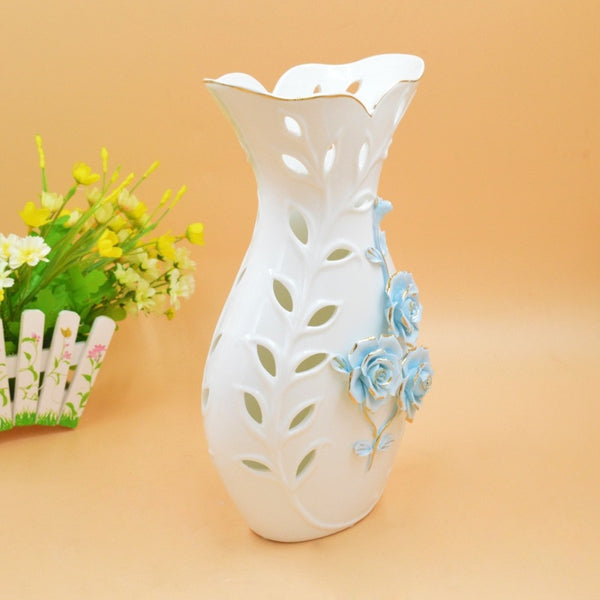 2017 ivory porcelain gilt pure handmade ceramic decoration craft gift Home Furnishing vase housewarming opening ceramic vase Flo
