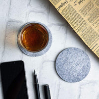 8Pcs Round Anti Slip Drink Coasters Heat Insulated Felt Mugs Mats Table Placemats Housewarming Gifts Home Decor Kitchen Supplies